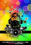 Abstract Rainbow Disco Flyer