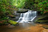 Motion Blur Waterfalls Nature Landscape in Blue Ridge Mountains
