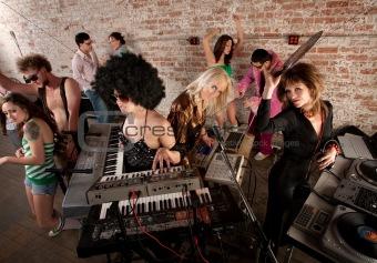 1970s Disco Music Party Fun