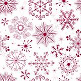 Seamless white, pink and red christmas pattern (vector)