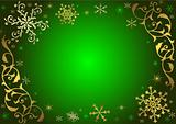 Vintage green christmas background