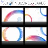 Business Cards Set. Colorful Circles.