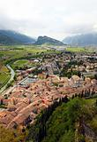 Panoramic view of Arco and Riva del Garda, Italy