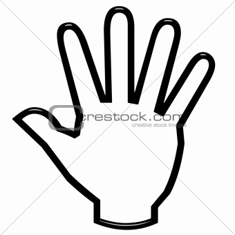 3D Open Hand