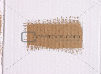 Cardboard with brush lines