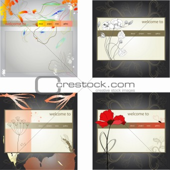 Set of website design template