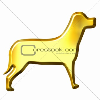 3D Golden Dog