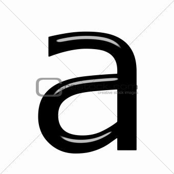 3d letter a