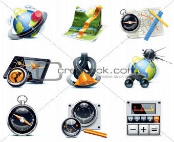 Vector GPS navigation icons. Part 1