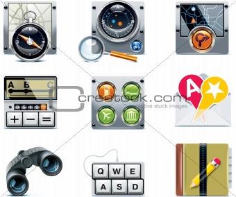 Vector GPS navigation icons. Part 2