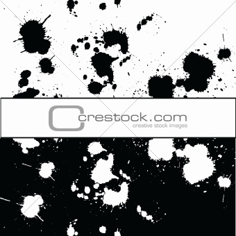 Background with black and white ink spots