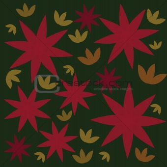 Background with doted flowers and leaves
