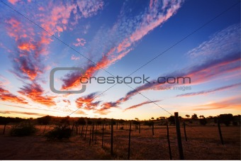 Timelapsed African sunset taken in Kgalagadi