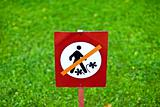 Keep off grass!