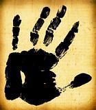 Printout of human hand