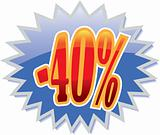 40% discount label