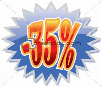 35% discount label