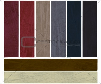 Autumn winter color textured banner set isolated