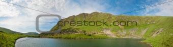 Alpine lake Brebeneckul on summer mountains