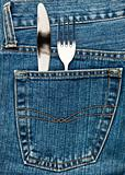 Flatware in a pocket