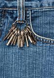 Keys on jeans