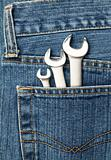 Lug wrenches in a pocket