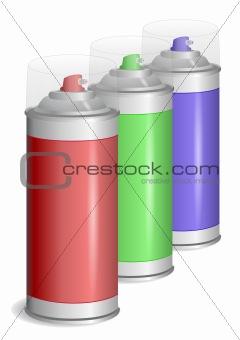 Aerosol paint spray.