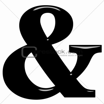 3D Ampersand