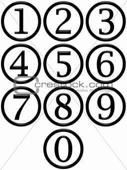 3D Framed Numbers
