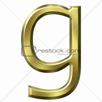 3d golden letter g