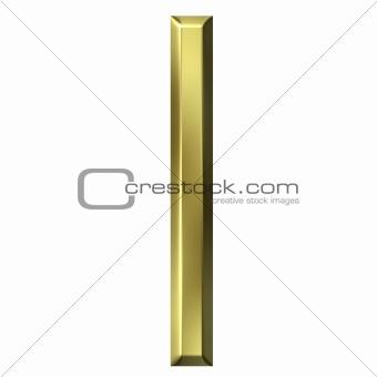 3d golden letter l