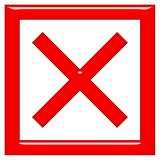 3d rejected or rated X sign