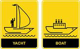 Yacht and Boat - signs