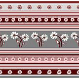 Seamless floral striped pattern