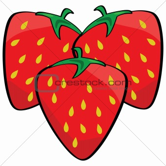Cartoon strawberries