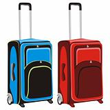 illustration of isolated luggages