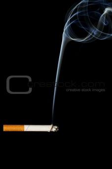 a smoking cigarette