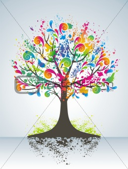 Abstract colorful tree.
