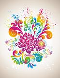 Colorful flower background.