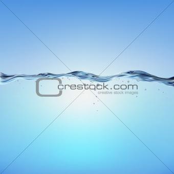 Blue Vector Water Wave