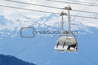 Chair lift at Whistler Peak British Columbia