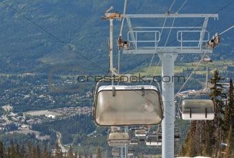 Chair lifts at Whistler Peak British Columbia