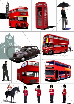 Some London images. Vector illustration