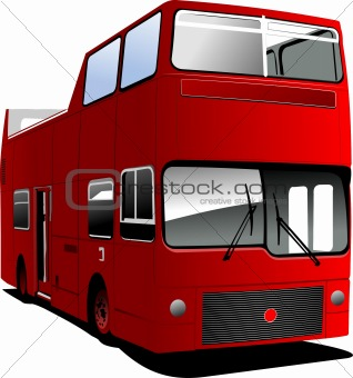 An open topped tour London bus. Vector illustration
