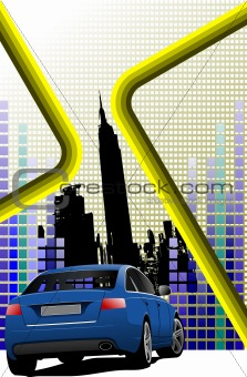Abstract hi-tech background. Colored vector illustration for des