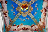 Ceiling of arbor in monastery