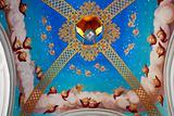 Ceiling of arbor in monastery