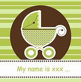 Any baby arrival card, vector