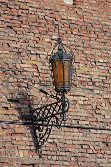 Antique Street Light on a wall
