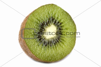 kiwi on white close up